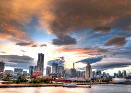 Yokohama City Sunset